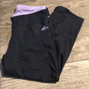 Adidas lilac capri workout leggings